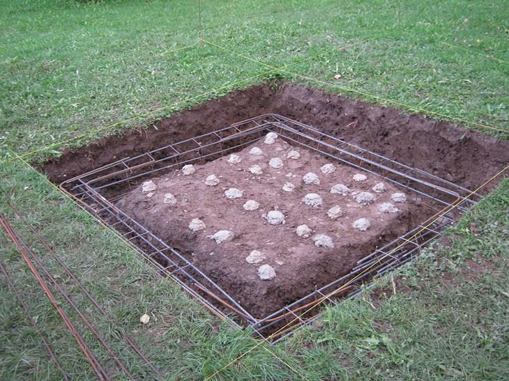 ferrailles pour fondations